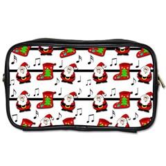 Xmas Song Pattern Toiletries Bags 2 Side by Valentinaart