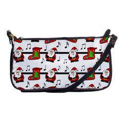 Xmas Song Pattern Shoulder Clutch Bags by Valentinaart