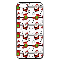 Xmas Song Pattern Apple Iphone 5 Seamless Case (black) by Valentinaart