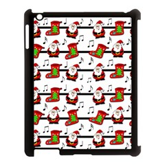 Xmas Song Pattern Apple Ipad 3/4 Case (black) by Valentinaart