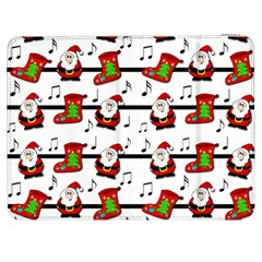 Xmas Song Pattern Samsung Galaxy Tab 7  P1000 Flip Case by Valentinaart