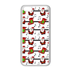 Xmas Song Pattern Apple Iphone 5c Seamless Case (white) by Valentinaart