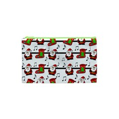 Xmas Song Pattern Cosmetic Bag (xs) by Valentinaart