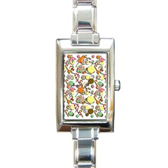Xmas Candy Pattern Rectangle Italian Charm Watch by Valentinaart
