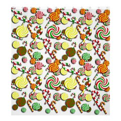Xmas Candy Pattern Shower Curtain 66  X 72  (large)  by Valentinaart