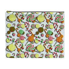 Xmas Candy Pattern Cosmetic Bag (xl) by Valentinaart