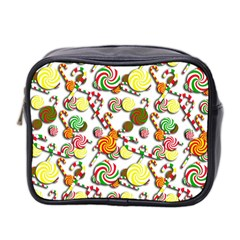 Xmas Candy Pattern Mini Toiletries Bag 2 Side by Valentinaart