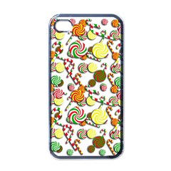 Xmas Candy Pattern Apple Iphone 4 Case (black) by Valentinaart