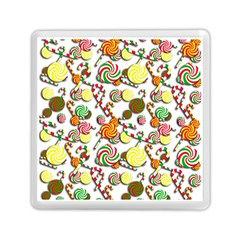 Xmas Candy Pattern Memory Card Reader (square)  by Valentinaart