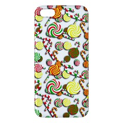 Xmas Candy Pattern Apple Iphone 5 Premium Hardshell Case by Valentinaart