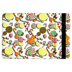 Xmas Candy Pattern Ipad Air Flip by Valentinaart