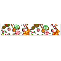 Xmas Candy Pattern Flano Scarf (large) by Valentinaart
