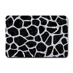 Skin1 Black Marble & Gray Marble (r) Small Doormat by trendistuff