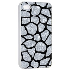 Skin1 Black Marble & Gray Marble Apple Iphone 4/4s Seamless Case (white) by trendistuff