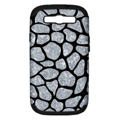 SKN1 BK-GY MARBLE Samsung Galaxy S III Hardshell Case (PC+Silicone) by trendistuff