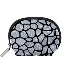 Skin1 Black Marble & Gray Marble Accessory Pouch (small) by trendistuff