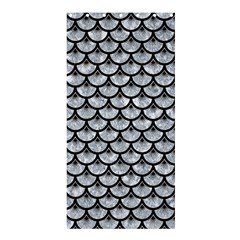 Scales3 Black Marble & Gray Marble (r) Shower Curtain 36  X 72  (stall)