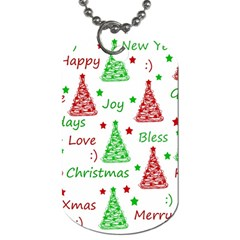 New Year Pattern Dog Tag (two Sides) by Valentinaart