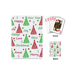 New Year Pattern Playing Cards (mini)  by Valentinaart