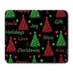 New Year Pattern   Red And Green Large Mousepads by Valentinaart