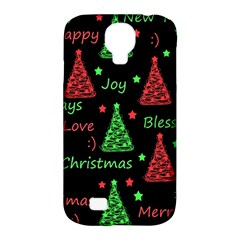 New Year Pattern   Red And Green Samsung Galaxy S4 Classic Hardshell Case (pc+silicone) by Valentinaart