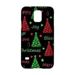 New Year Pattern   Red And Green Samsung Galaxy S5 Hardshell Case  by Valentinaart
