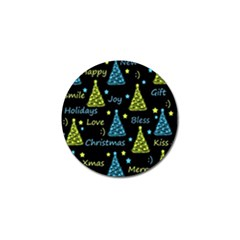 New Year Pattern   Blue And Yellow Golf Ball Marker (4 Pack) by Valentinaart