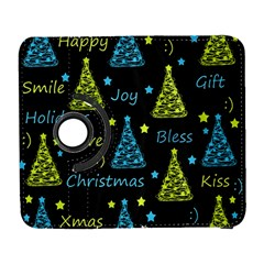 New Year Pattern   Blue And Yellow Galaxy S3 (flip/folio) by Valentinaart