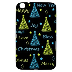 New Year Pattern   Blue And Yellow Samsung Galaxy Tab 3 (8 ) T3100 Hardshell Case  by Valentinaart