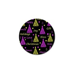 New Year Pattern   Yellow And Purple Golf Ball Marker (4 Pack) by Valentinaart