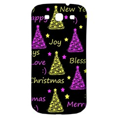 New Year Pattern   Yellow And Purple Samsung Galaxy S3 S Iii Classic Hardshell Back Case by Valentinaart