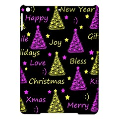 New Year Pattern   Yellow And Purple Ipad Air Hardshell Cases by Valentinaart