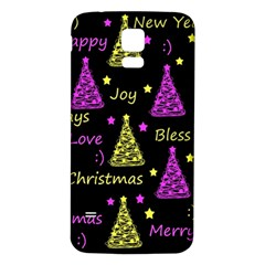 New Year Pattern   Yellow And Purple Samsung Galaxy S5 Back Case (white) by Valentinaart