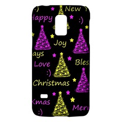 New Year Pattern   Yellow And Purple Galaxy S5 Mini by Valentinaart