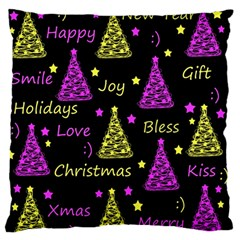 New Year Pattern   Yellow And Purple Standard Flano Cushion Case (two Sides) by Valentinaart