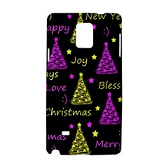 New Year Pattern   Yellow And Purple Samsung Galaxy Note 4 Hardshell Case by Valentinaart