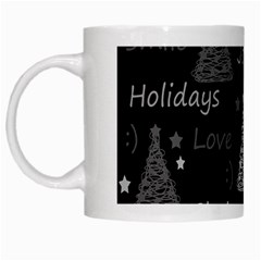 New Year Pattern   Gray White Mugs by Valentinaart