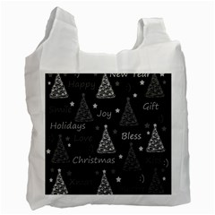 New Year Pattern   Gray Recycle Bag (one Side) by Valentinaart