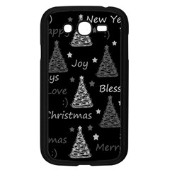 New Year Pattern   Gray Samsung Galaxy Grand Duos I9082 Case (black) by Valentinaart
