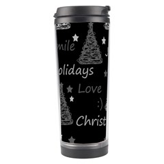 New Year Pattern   Gray Travel Tumbler by Valentinaart