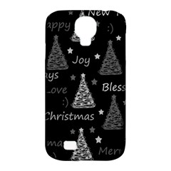 New Year Pattern   Gray Samsung Galaxy S4 Classic Hardshell Case (pc+silicone) by Valentinaart