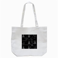 New Year Pattern   Gray Tote Bag (white) by Valentinaart