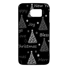 New Year Pattern   Gray Galaxy S6 by Valentinaart