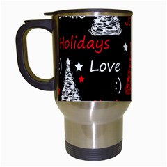 New Year Pattern   Red Travel Mugs (white) by Valentinaart