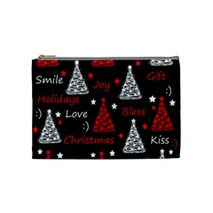 New Year Pattern   Red Cosmetic Bag (medium)  by Valentinaart