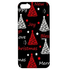 New Year Pattern   Red Apple Iphone 5 Hardshell Case With Stand by Valentinaart