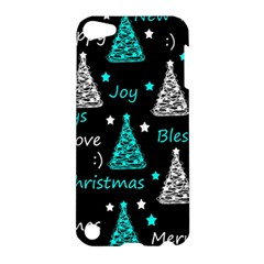 New Year Pattern   Cyan Apple Ipod Touch 5 Hardshell Case by Valentinaart