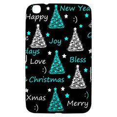 New Year Pattern   Cyan Samsung Galaxy Tab 3 (8 ) T3100 Hardshell Case  by Valentinaart