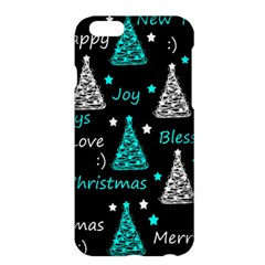 New Year Pattern   Cyan Apple Iphone 6 Plus/6s Plus Hardshell Case by Valentinaart