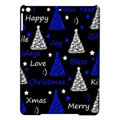 New Year Pattern   Blue Ipad Air Hardshell Cases by Valentinaart